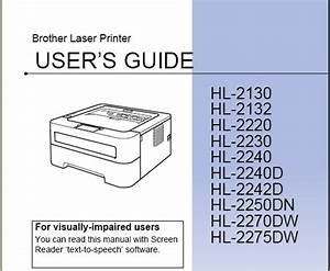 Brother Hl-2270dw Manual User Guide