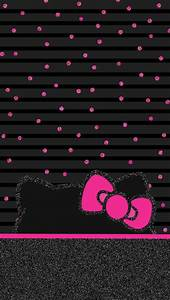 Wallpaper hello kitty | BLACK,RED AND PINK SANRIO FRIENDS ...