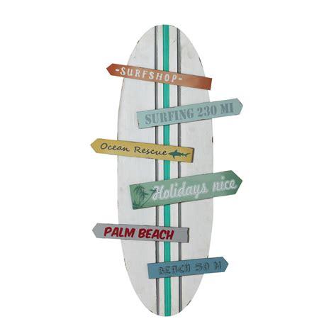 couleur mur chambre bébé fille déco murale planche de surf multicolore 45 x 90 cm surfing