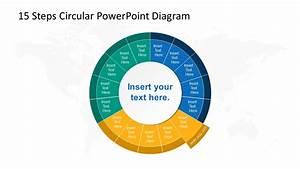 15 Steps Circular Cycle 6 Segment Ppt