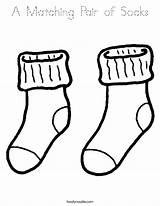 Socks Coloring Pair Matching Noodle Twistynoodle Built California Usa Twisty sketch template