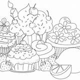 Coloring Cupcake Cupcakes Muffin Ausmalbilder Colorir Desenhos Colouring Adult Printable Kostenlos Popular Descubra Ideias Sobre sketch template
