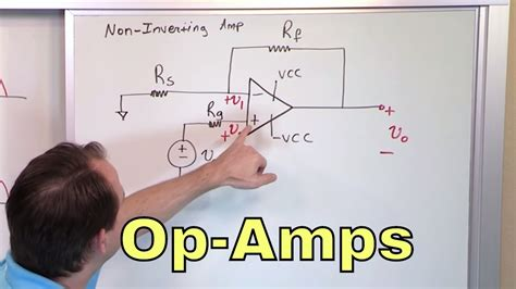 The Non Inverting Amp Amplifier Circuit Youtube