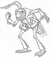 Coloring Pages Bugs Bug Grasshoppers Characters Circus Ants sketch template