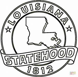 State Of Louisiana coloring page | Free Printable Coloring ...