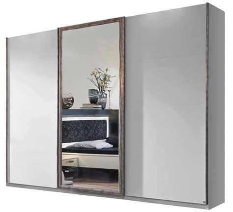 armoire 3 portes coulissantes avec fa 231 ade 224 miroir mirya 315 lestendances fr
