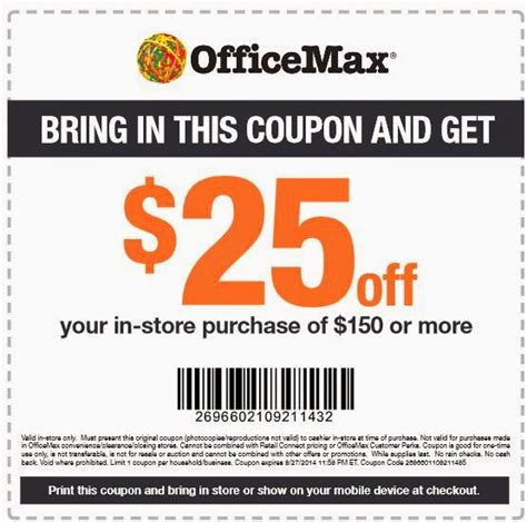 Office Depot Coupon Printing by Office Max Printable Coupons May 2018