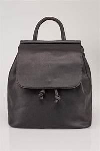 Black Medium Flap Backpack