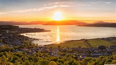 Scotland Sunset Gourock Town Uhd 4k Desktop