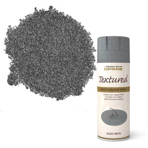 rust oleum stone aged iron spray paint  ml