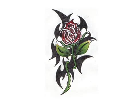 Tribal Rose Tattooes Designs