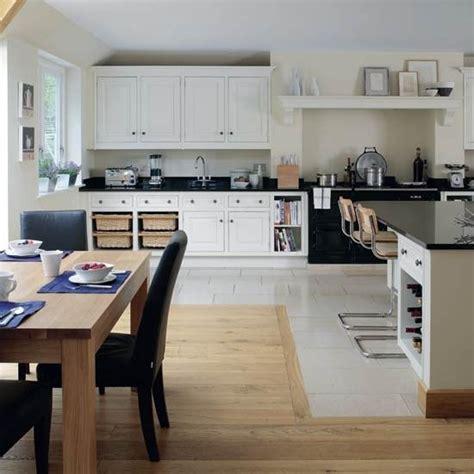 kitchen diner flooring ideas change of flooring use of fireplace for range kitchen diner layout ideas pinterest
