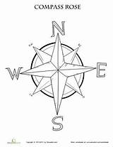 Compass Rose Coloring Map Worksheet Maps Printable Grade Pages Worksheets Activities Education Skills 3rd Learning Adult Social Teaching Template Nautical sketch template
