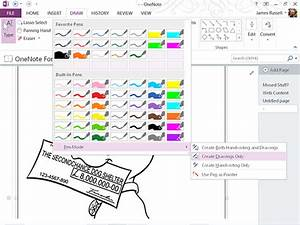 Using Onenote 2013 To Color