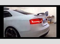 Audi RS5 Spoiler Heckklappe nachrüsten YouTube