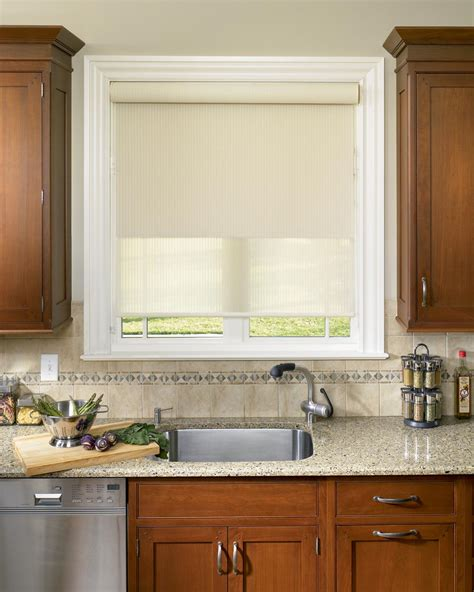modern roller shades blinds in kitchen window window treatments design ideas