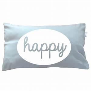 Grey Happy cushion - Boho Deco Shop