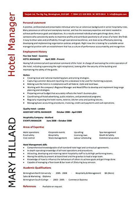 hotel manager resume sample hotel manager resume