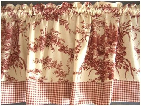 RED TOILE Curtain Valance Waverly La Ferme by NancysLinens