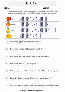 Use The Tally Chart To Answer These Third Grade Math
