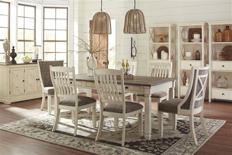 farm table dining room bolanburg rect dining table 6 uph side chairs d647 25