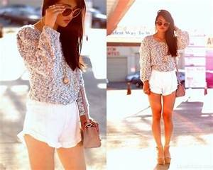 Shorts ruffle ruffle shorts white shorts white shorts cute fall outfits spring spring ...