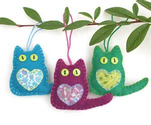 cat ornaments felt cat ornaments felt ornaments cat