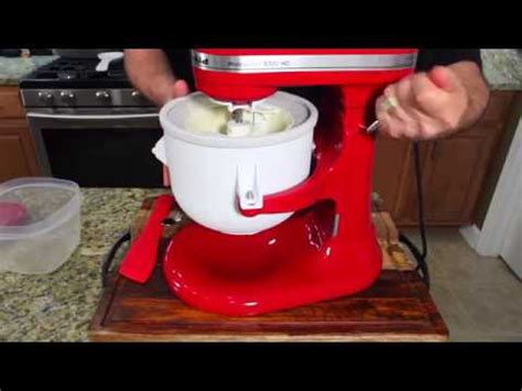 kitchenaid ice cream maker attachment youtube