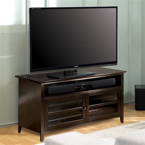 """Bell'o 52"""" Dark Espresso Wood Tv Stand (no Tools Assembly. Round Platform Bed. Contemporary End Table. 42 Inch Bathroom Vanity. Lazy Boy Leather Sectional. Large Pavers. Shower With Seat. Modern Window Trim. Front Door Window Treatments"""