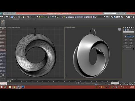 tutorial model  mobius strip pendant dsmax youtube