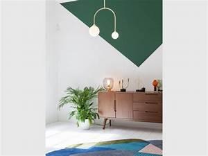 Made Com Tapis : peinture des triangles sur mon mur ~ Teatrodelosmanantiales.com Idées de Décoration