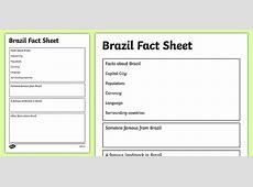 Brazil Factsheet Writing Template brazil, brazil fact sheet