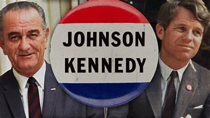 Johnson Kennedy President Lyndon Vice Robert Campaign