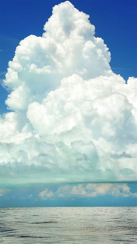 wallpaper cumulus clouds  hd wallpaper sky sea