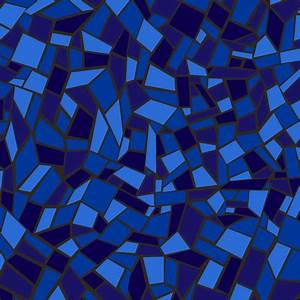 Mosaic Tile / Stained Glass Texture Blue fabric - ameliae ...