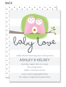 baby love owl  moms baby shower  noteworthy