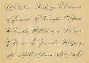 spencerian saturday pen flourished words the graphics
