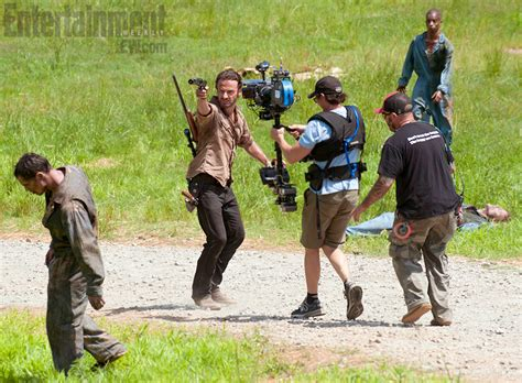 the walking dead spoilers more of season 3 filming photos