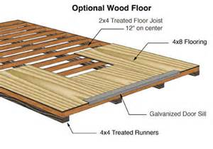 sierra 12x16 wood storage garage shed kit