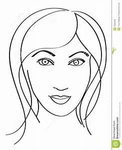 Simple Woman's Face Stock Vector - Image: 45205328