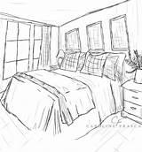 Coloring Bedroom Printable Sheet Popular Getcolorings Coloringhome sketch template