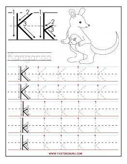 letter k worksheets free printable letter k tracing worksheets for preschool 9509
