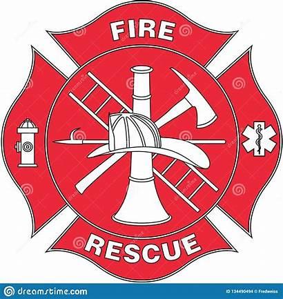 Rescue Fire Vector Badge Illustration