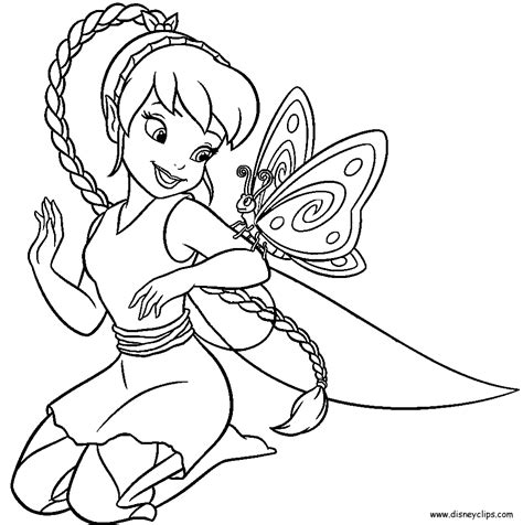 Disney fairy silvermist coloring pages download and print