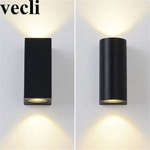 Modern Up And Down Wall Light Fixture Cube Cylinder Porch