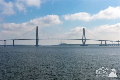 Big Boat In Charleston Harbor by Charleston Harbor By Boat D K Wall