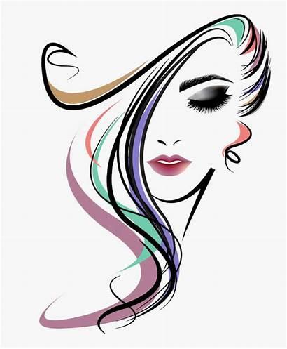 Parlour Clipart Salon Face Woman Coiffure Maquillage