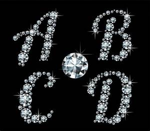 shiny diamond letters vector material 01 free download With diamond letters