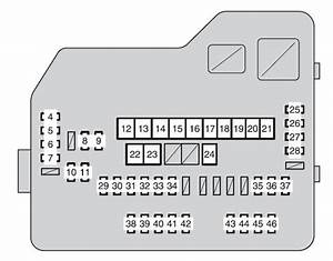 Toyota Highlander  Xu40  2009 - 2010  - Fuse Box Diagram