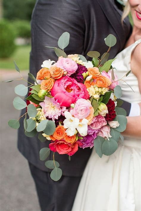 Colorful Whimsical Wedding Wedding Bouquets Purple